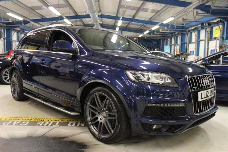 used Audi Q7 TDI QUATTRO S LINE PLUS [SAT NAV / LEATHER / 7 SEATS] in basingstoke-hampshire