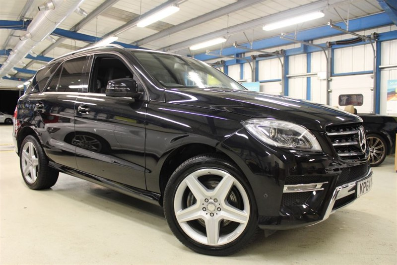 used Mercedes ML350 BLUETEC AMG LINE [SAT NAV / FULL LEATHER / 1 OWNER] in basingstoke-hampshire