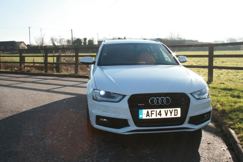 used Audi A4 Avant TDI QUATTRO S LINE BLACK EDITION in aldershot-hampshire