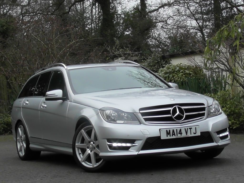 used iridium silver met with black leather dinamic mercedes c250 for sale surrey. Black Bedroom Furniture Sets. Home Design Ideas