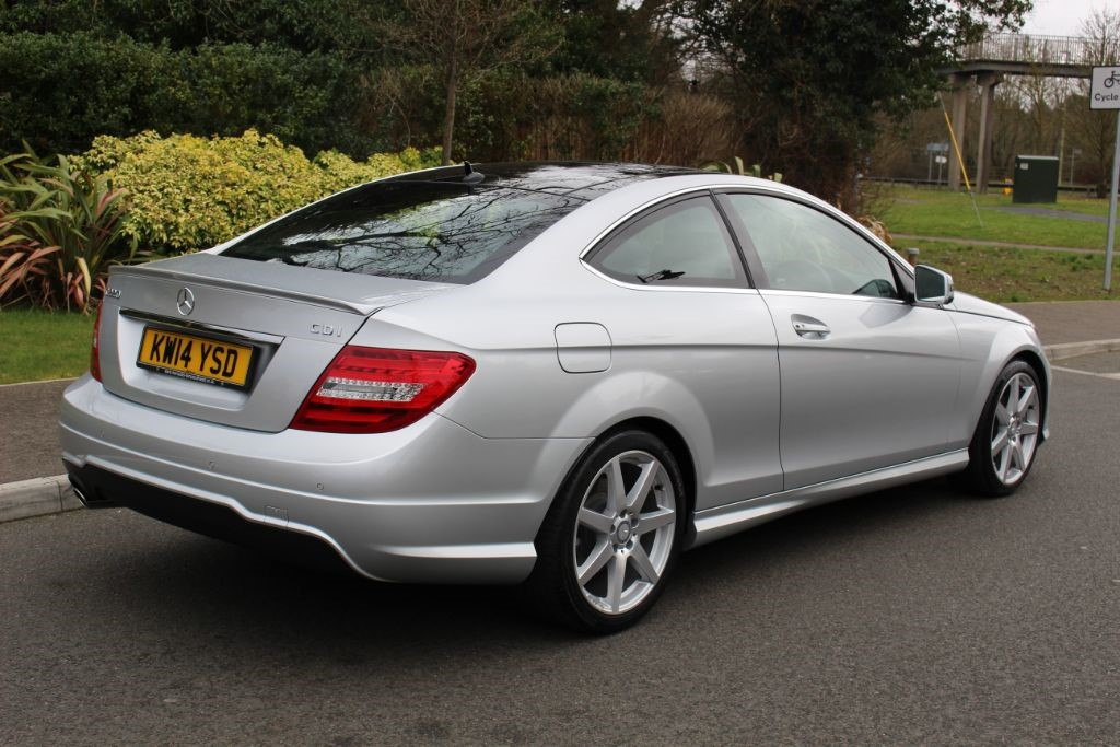 used bright silver metallic mercedes c220 for sale hampshire. Black Bedroom Furniture Sets. Home Design Ideas