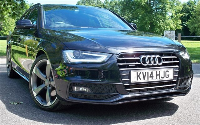 used Audi A4 Avant Tdi Quattro S-Line Black Edition [177] (HDD ADVANCED 3D SAT NAV+ !) in chertsey-surrey