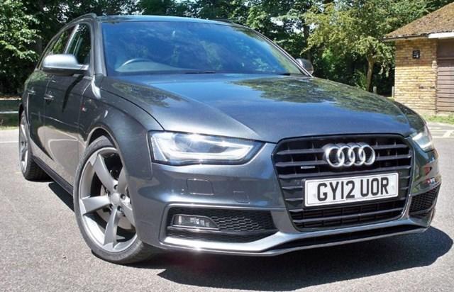 used Audi A4 Avant Tdi Quattro S-Line Black Edition [245] (HDD SAT NAV+ !!) in chertsey-surrey