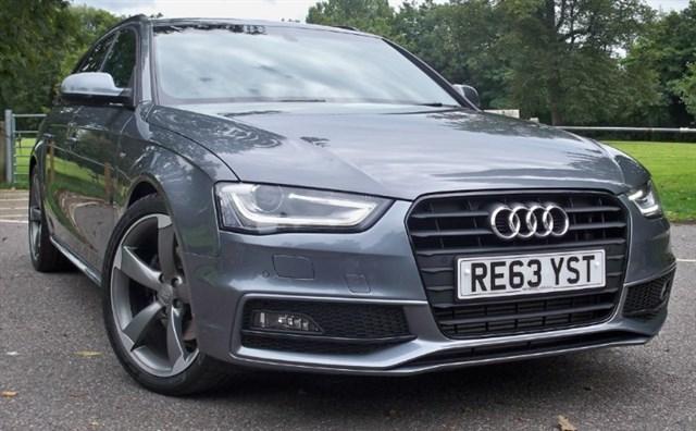 used Audi A4 Avant Tdi S-Line Black Edition [177] (HDD SAT NAV+ !! HUGE SPEC !!) in chertsey-surrey