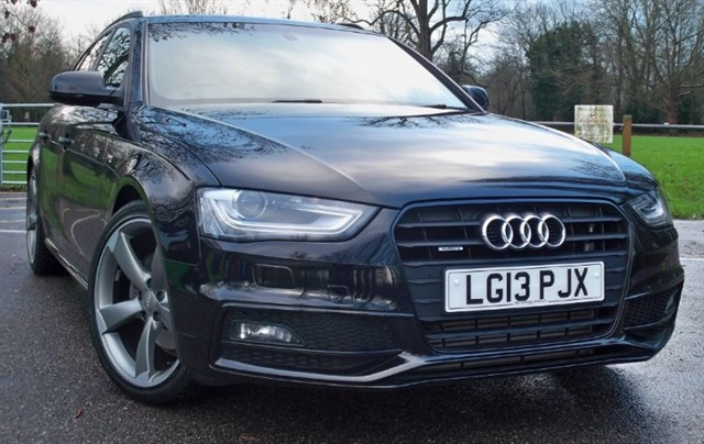 used Audi A4 Avant Tdi Quattro S Line Black Edition [177] (JUST 9000 MILES !!)  in chertsey-surrey
