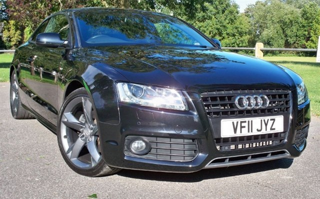 used Audi A5 Tdi Quattro S-Line Black Edition [170] (SAT NAV+ !!) in chertsey-surrey