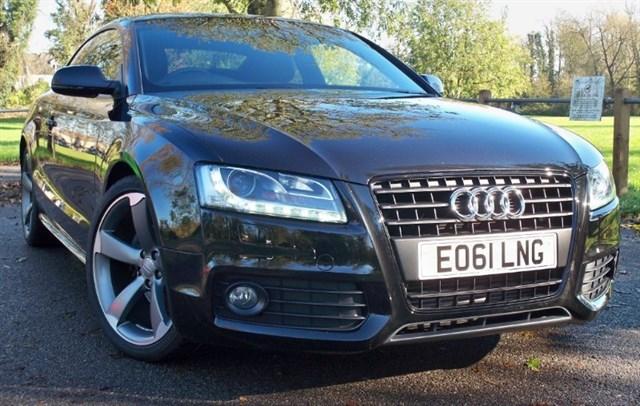 used Audi A5 Tdi S-Line Black Edition [170] (HDD SAT NAV+ !!) in chertsey-surrey