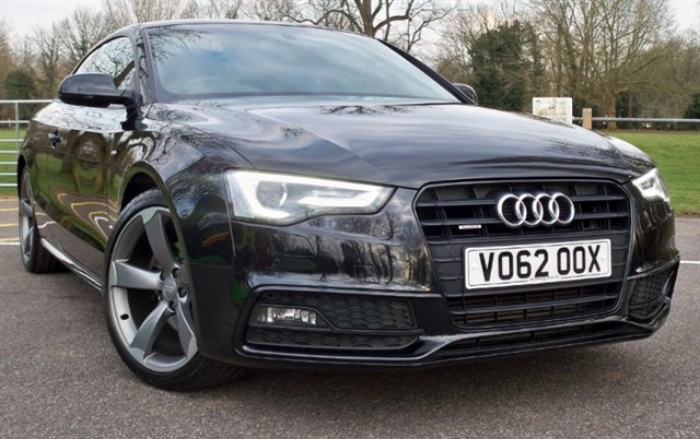 used Audi A5 Tdi Quattro S-Line Black Edition [177] (HDD 3D SAT NAV+ !!) in chertsey-surrey