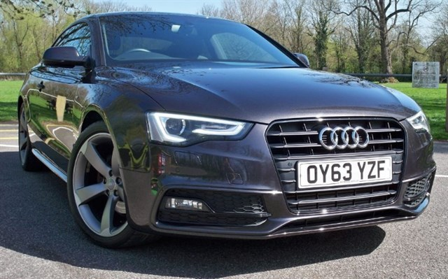 used Audi A5 Tdi S-Line Black Edition [177] (HDD 3D SAT NAV+ !!) in chertsey-surrey