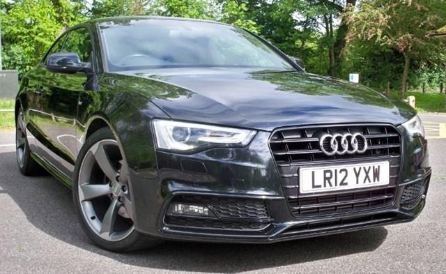 used Audi A5 Tdi S-Line Black Edition [177] (HDD SAT NAV+ !!) in chertsey-surrey