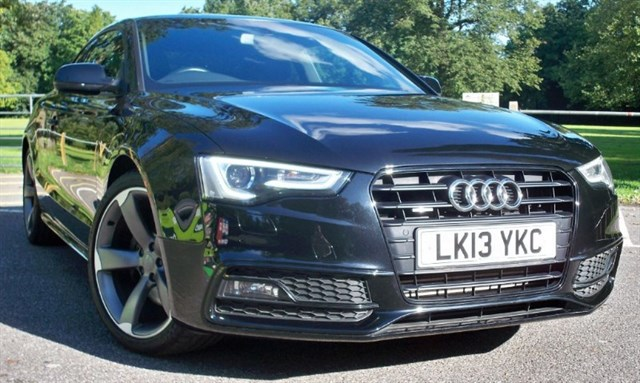 used Audi A5 Tdi Quattro S-Line Black Edition [245] (HDD 3D SAT NAV+ !!) in chertsey-surrey