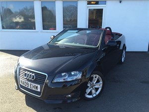 used Audi A3 TDI SPORT *RED LEATHER/RED HOOD* in cheshire