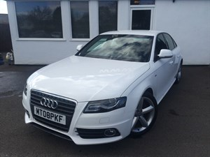 used Audi A4 TDI S LINE *Black Leather* in cheshire