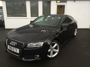 used Audi A5 SPORTBACK TDI S LINE**Black Leather** in cheshire