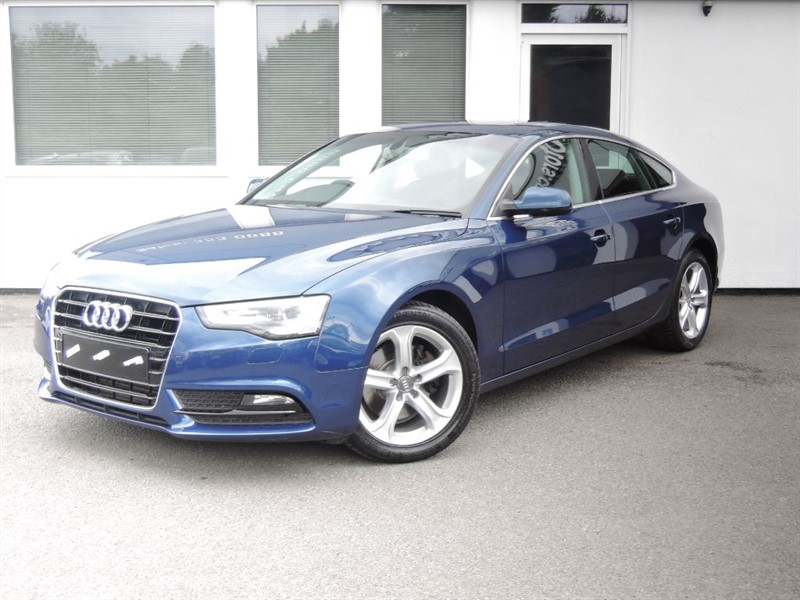 used Audi A5 SPORTBACK TDI SE 177BHP *Black leather+Sunroof+Full Audi History* in cheshire