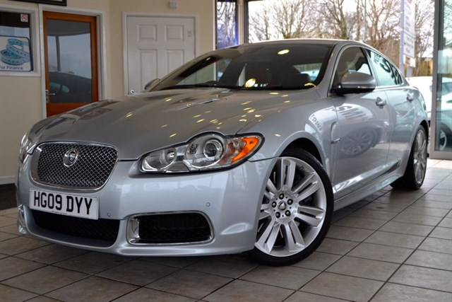 used Jaguar XF V8 R SUPERCHARGED FULL RED LEATHER INTERIOR in forest-of-dean-gloucestershire