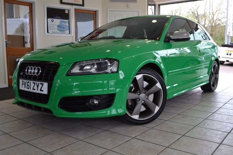 used Audi A3 S3 TFSI QUATTRO S LINE BLACK EDITION SPECIAL ORDER IN PORSCHE SIGNAL GREEN in forest-of-dean-gloucestershire