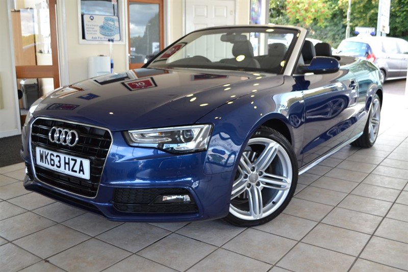 used Audi A5 TDI S LINE CONVERTIBLE SPECIAL EDITION in forest-of-dean-gloucestershire