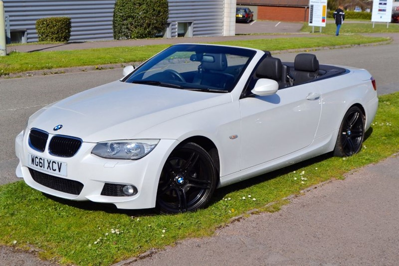 used BMW 320d M SPORT CONVERTIBLE ONE OWNER+FULL BMW SERVICE HISTORY in forest-of-dean-gloucestershire