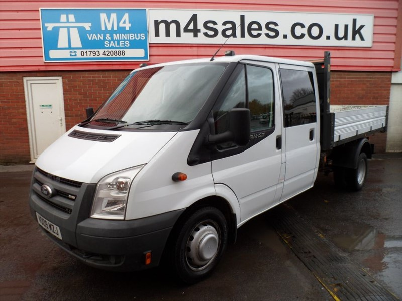 used Ford Transit 350 CREWVAN TIPPER 100PS *NO VAT* in wiltshire