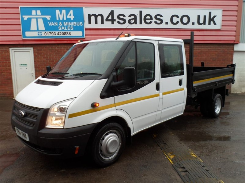 used Ford Transit CREW CAB TIPPER RWD WITH STEEL BODY in wiltshire