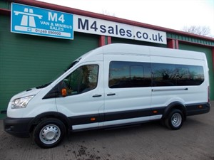 used Ford Transit 17st N/shape Minibus,A/con,Tacho. **New PSV Cert** in wiltshire