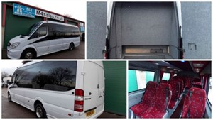 used Mercedes Sprinter 17st Exec Minibus with Boot,PSV.**New Engine** in wiltshire