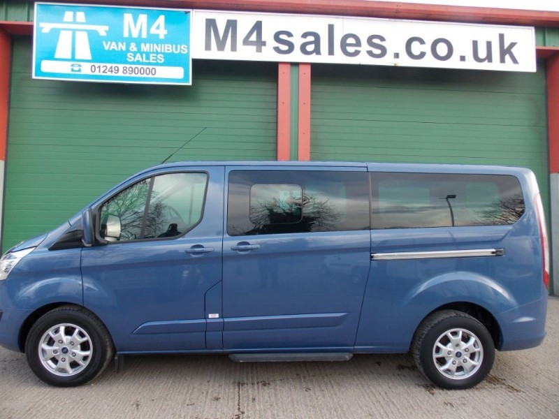used Ford Tourneo Custom 125ps,9st LWB Limited full a/con. in wiltshire