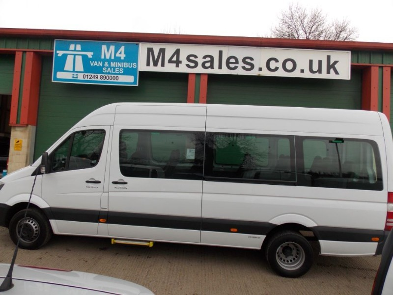 used Mercedes Sprinter 513cdi,17st transfer minibus,PSV'd,A/C. in wiltshire