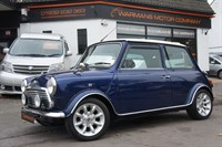 Used Rover Mini Mayfair Aircon  Tahiti Blue/Brown Leather Cream piping IMMACULATE