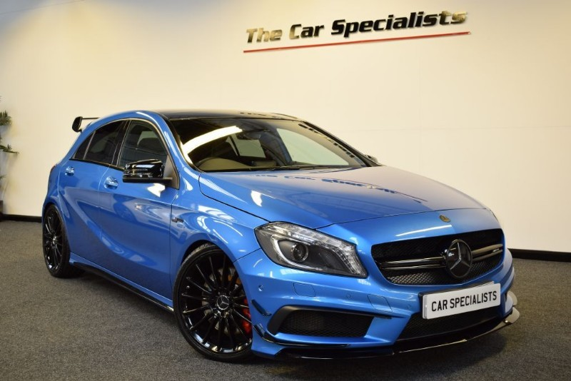 used south sea blue metallic mercedes a45 amg for sale south yorkshire. Black Bedroom Furniture Sets. Home Design Ideas