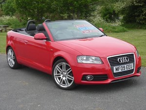 used Audi A3 TDI S LINE Convertible Full Service History in wirral-cheshire