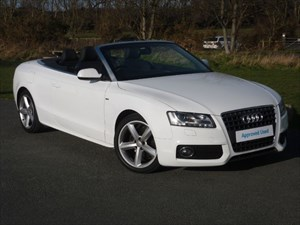 used Audi A5 TDI S LINE Convertible Full Service History in wirral-cheshire