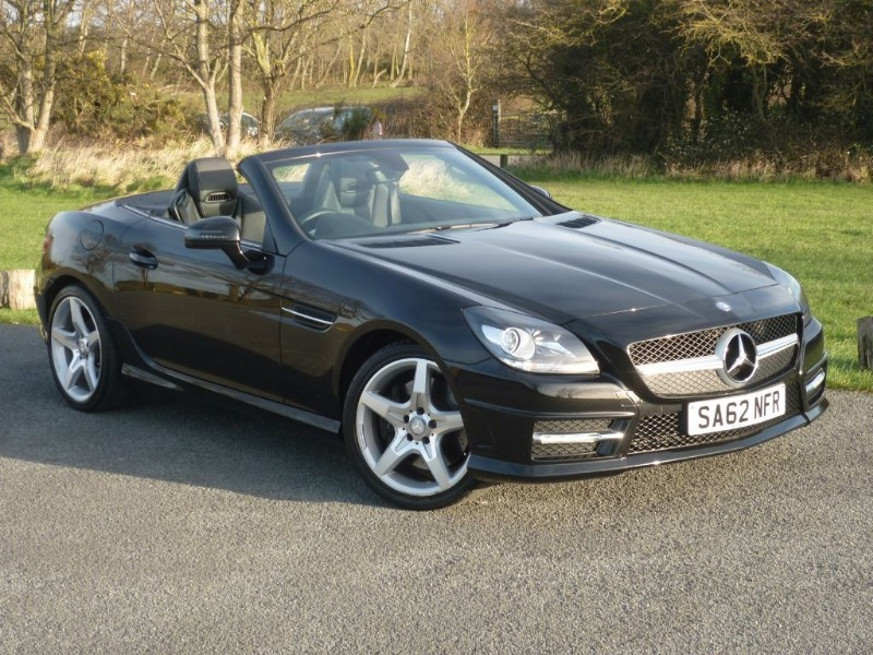used Mercedes SLK200 BLUEEFFICIENCY AMG SPORT AIRSCARF NAV LEATHER WITH 2 YEARS FREE SERVICING* in wirral-cheshire