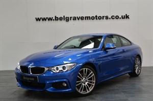 BMW 420d 184 M SPORT PRO MEDIA SAT NAV LEATHER 19 ALLOYS 2DR 58MPG