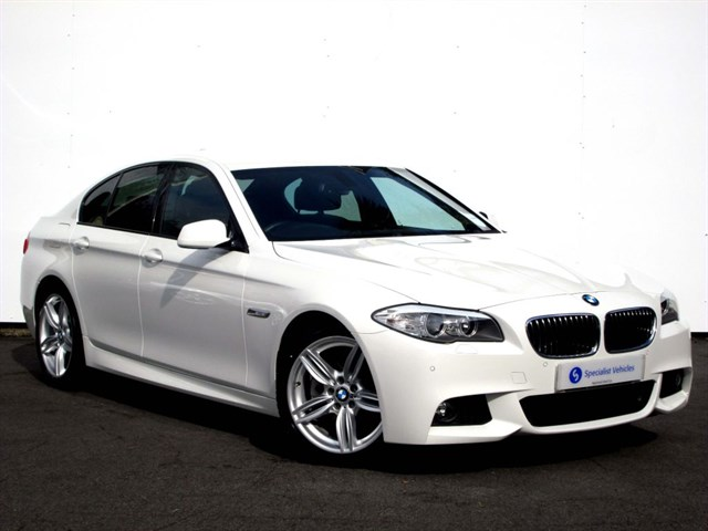 "used BMW 520d M Sport -19""ALLOYS-SAT NAV-FULL LEATHER-FBMWSH-FREE SERVICING-ONLY £130 TAX in plymouth-devon"