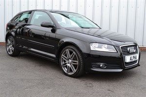 "used Audi A3 TDI SE (£20 A YEAR ROAD TAX & 18"" BLACK EDITION  ALLOYS)  in wigan-lancashire"
