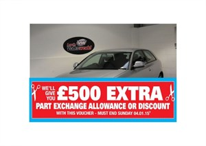 used Audi A3 SE TECHNIK MPI 3DR ONLY 27,000 MILES FULL SERVICE HISTORY in lincolnshire-for-sale