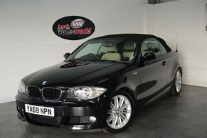 used BMW 120i M SPORT 2DR CONVERTIBLE FULL LEATHER INTERIOR ELECTRIC FOLDING ROOF in lincolnshire-for-sale