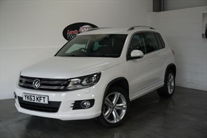 used VW Tiguan TDI BLUEMOTION R LINE 5DR FULL LEATHER INTERIOR FRONT AND REAR ASSIST in lincolnshire-for-sale