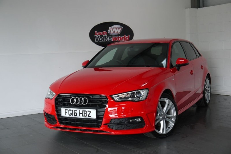 used Audi A3 TDI S LINE 5DR SAT NAV HALF LEATHER INTERIOR in lincolnshire-for-sale