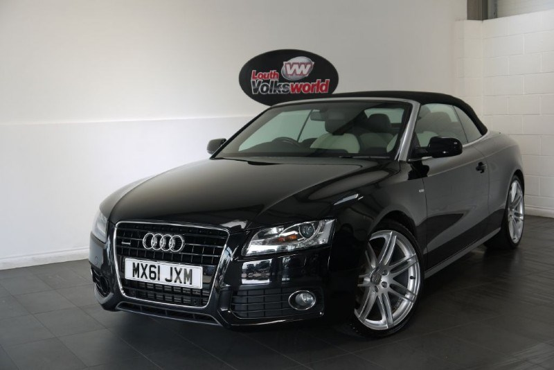 used Audi A5 TDI S LINE QUATTRO 2DR CONVERTIBLE in lincolnshire-for-sale