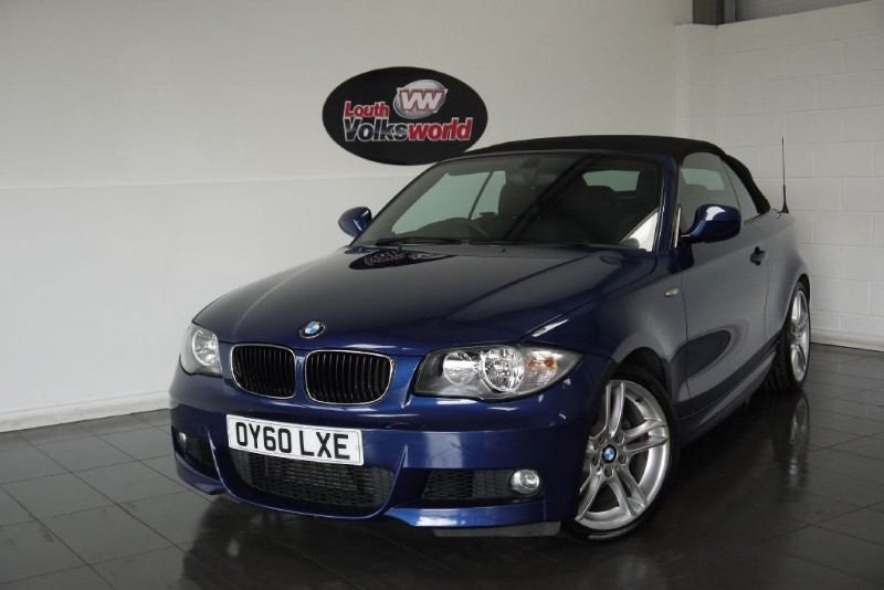 used BMW 118d M SPORT 2DR CONERTIBLE HALF LEATHER in lincolnshire-for-sale