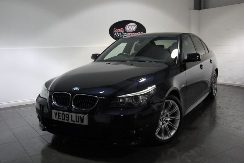 used BMW 520d M SPORT 4DR SAT NAV FULL LEATHER INTERIOR FULL SERVICE HISTORY in lincolnshire-for-sale