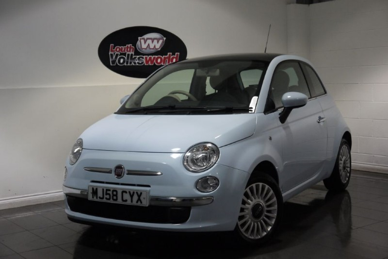 used Fiat 500 LOUNGE 3DR AIR CON PAN ROOF in lincolnshire-for-sale