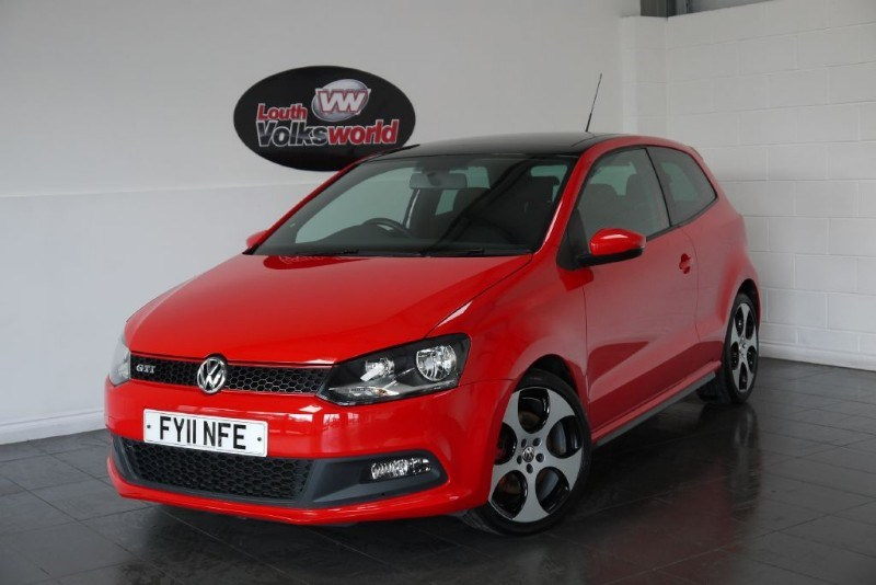 used VW Polo GTI 3DR AUTOMATIC PAN ROOF LOW MILEAGE in lincolnshire-for-sale