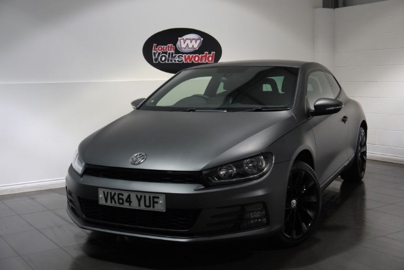 used VW Scirocco TDI GT BLUEMOTION 3DR 3M MATTE GREY WRAP SAVE £2000 in lincolnshire-for-sale