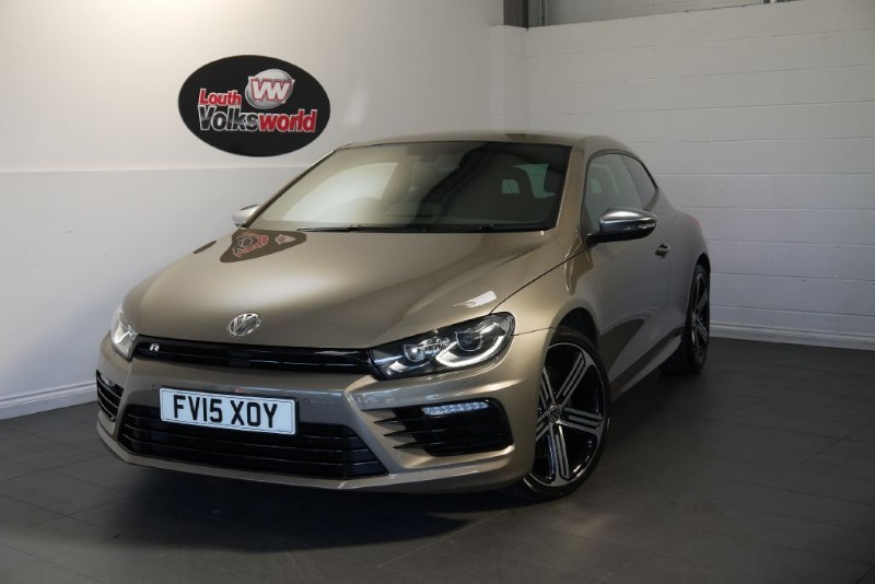 "used VW Scirocco R TSI BIG SPEC LEATHER NAV XENONS 19"" ALLOYS in lincolnshire-for-sale"