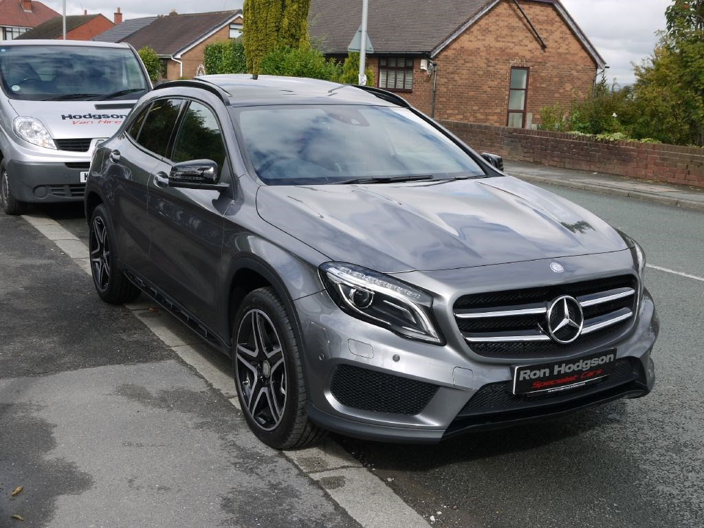 used mercedes gla class gla220 4matic amg line premium plus pano roof full leather night pack. Black Bedroom Furniture Sets. Home Design Ideas