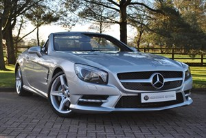 used Mercedes SL350 PAN ROOF- AIR SCARF- DAB in knutsford-cheshire